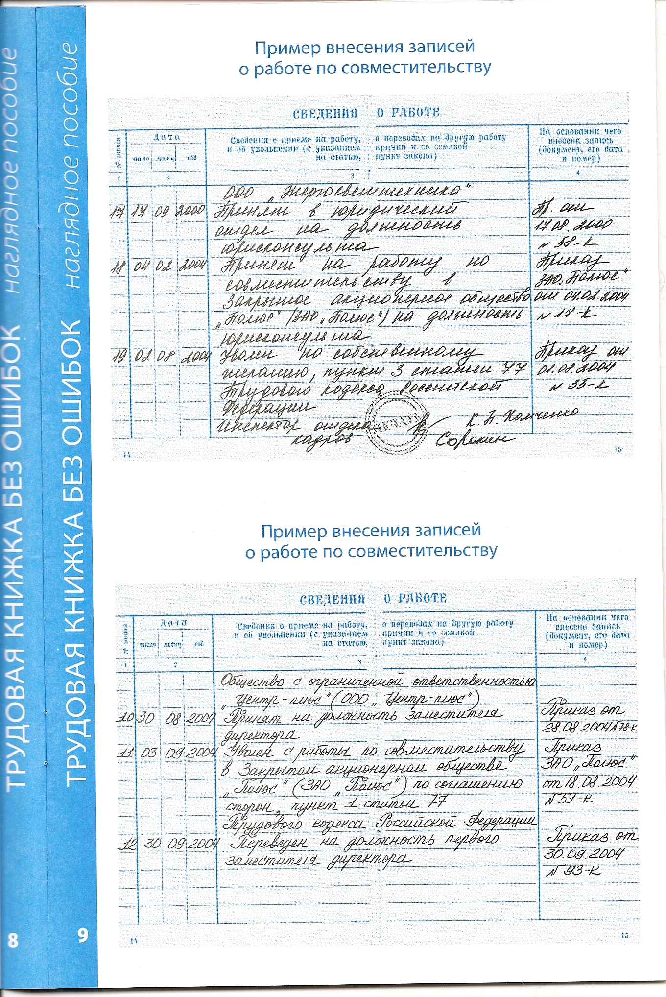 Делаем в трудовой книжке правильные записи Журнал «Главная 76